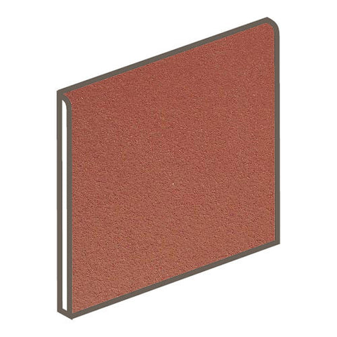 Daltile Quarry Tile 6 x 6 Red Blaze Abrasive Bullnose