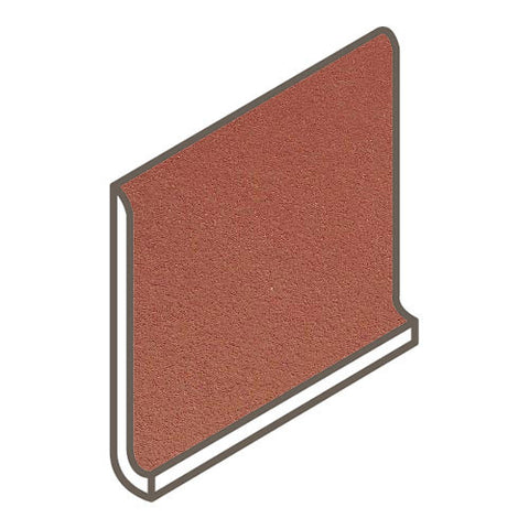 Daltile Quarry Tile 5 x 6 Red Blaze Non-Abrasive Cove Round Top - American Fast Floors