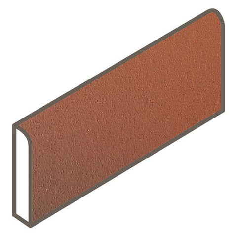 Daltile Quarry Tile 4 x 8 Blaze Flash Abrasive Bullnose