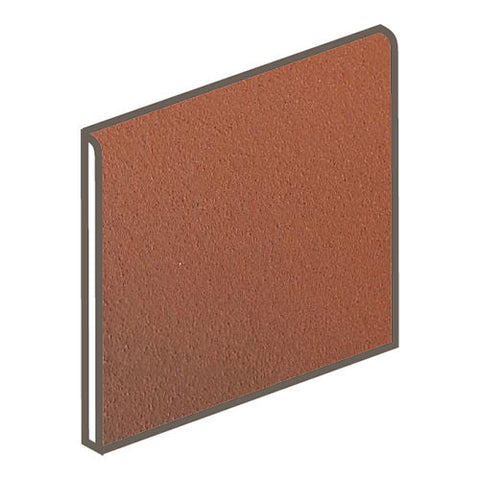 Daltile Quarry Tile 6 x 6 Blaze Flash Non-Abrasive Bullnose - American Fast Floors
