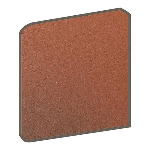 Daltile Quarry Tile 6 x 6 Blaze Flash Abrasive Bullnose Corner - American Fast Floors