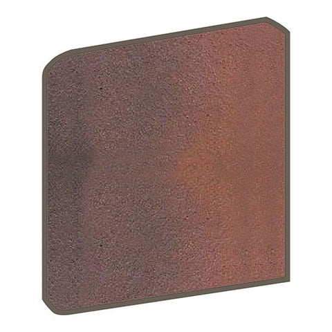 Daltile Quarry Textures 8 x 8 Red Flash Non-Abrasive Bullnose Corner - American Fast Floors