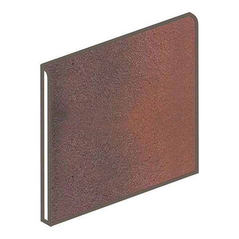 Daltile Quarry Textures 6 x 6 Red Flash Non-Abrasive Bullnose - American Fast Floors