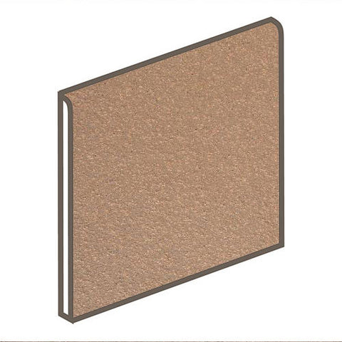 Daltile Quarry Textures 6 x 6 Adobe Brown Non-Abrasive Bullnose - American Fast Floors