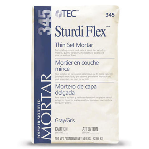 Tec Sturdi Flex ProGrade Latex Modified Thin Set Mortar Gray - 50 LB - American Fast Floors