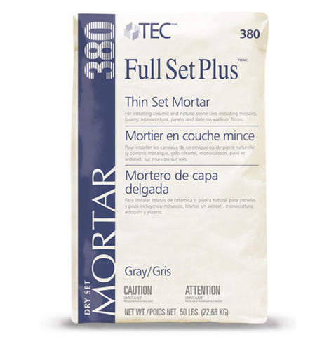 Tec Full Set Plus Premium Thin Set Mortar Gray - 50 LB - American Fast Floors