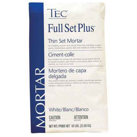 Tec Full Set Plus Premium Thin Set Mortar White - 50 LB - American Fast Floors