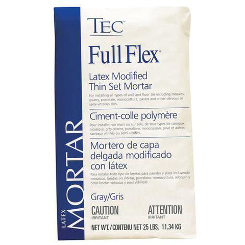TEC Full Flex Premium Latex Modified Thin Set Mortar Gray - 25 LB