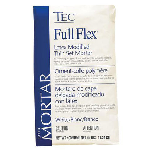 TEC Full Flex Premium Latex Modified Thin Set Mortar White - 25 LB