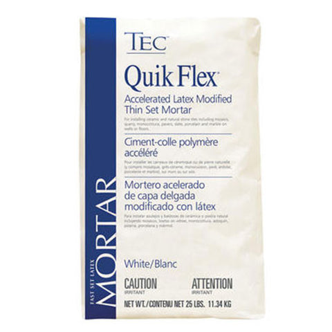TEC Quik Flex Accelerated Latex Modified Thin Set Mortar White - 25 LB