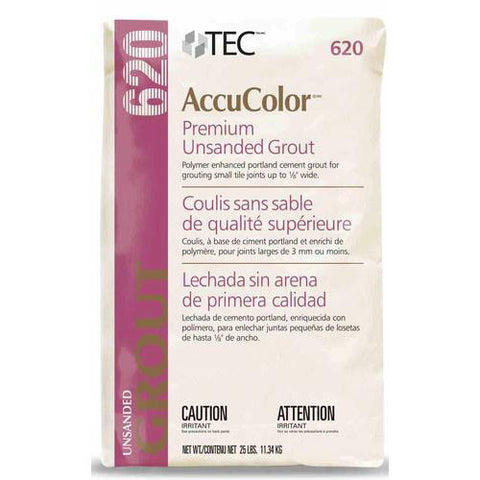 Tec AccuColor Premium Unsanded Grout - 25 Lb - American Fast Floors