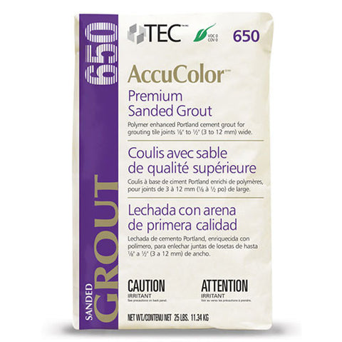 Tec AccuColor Premium Sanded Grout - 25 Lb - American Fast Floors