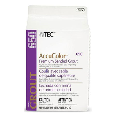 Tec AccuColor Premium Sanded Grout - 9.75 Lb - American Fast Floors