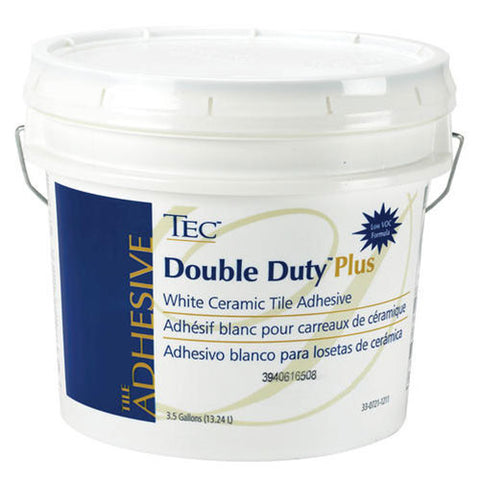Tec Double Duty Plus White Ceramic Tile Adhesive - 3.5 Gallon - American Fast Floors
