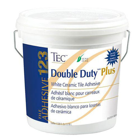 TEC Double Duty Plus White Ceramic Tile Adhesive - 1 Gallon
