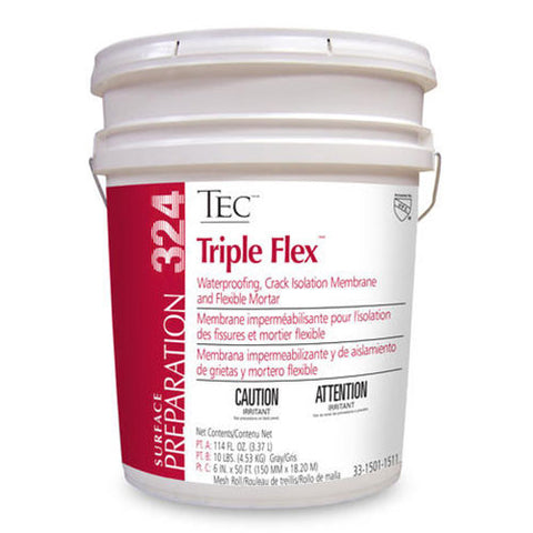 Tec Triple Flex Waterproofing Crack Isolation Membrane - 5 Gallon Kit - American Fast Floors