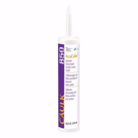 Tec  AccuColor Sanded Siliconized Acrylic Caulk - 10.5 Oz - American Fast Floors