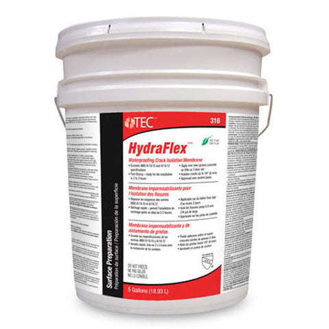 Tec HydraFlex Waterproofing Crack Isolation Membrane - 5 Gallon - American Fast Floors