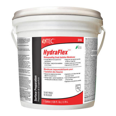 TEC HydraFlex Waterproofing Crack Isolation Membrane - 1 Gallon