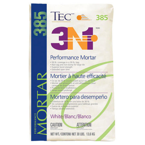 TEC 3N1 Lightweight Performance Mortar White - 30 Lb