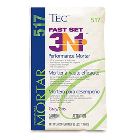 Tec Fast Set 3N1 Performance Mortar Gray - 30 Lb - American Fast Floors