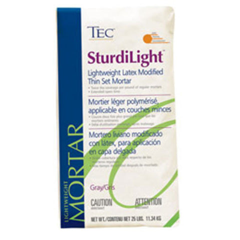 TEC SturdiLight Lightweight Latex Modified Mortar White - 25 LB