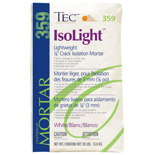"Tec IsoLight Lightweight 1/8"" Crack Isolation Mortar White - 30 LB - American Fast Floors"