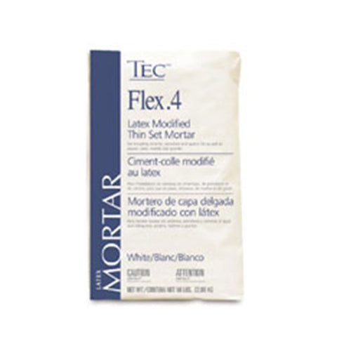 Tec Flex.4 Latex Modified Thin Set Mortar White - 50 LB - American Fast Floors
