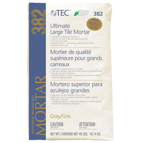 Tec Ultimate Large Tile Mortar Gray - 40 Lb - American Fast Floors
