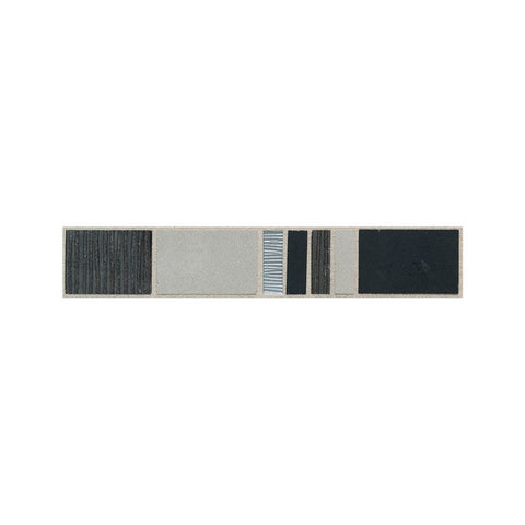 American Olean Avenue One 2 x 12 Blackout/Municipal Gray Decorative Accent - American Fast Floors