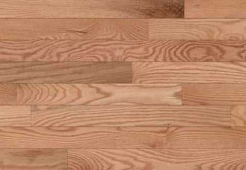 "Adams Signature Oak Red Natural Oak 2.25"" Solid Hardwood"