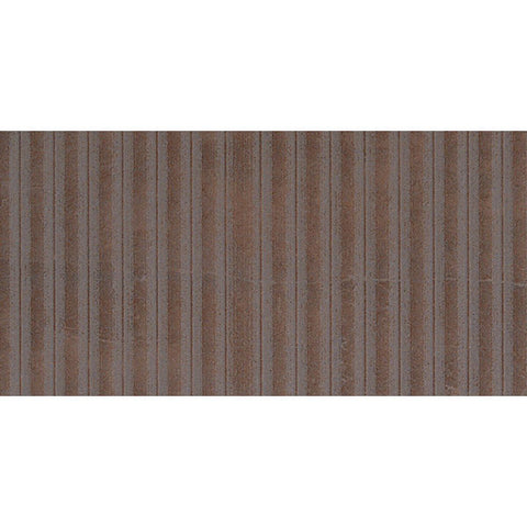"Avila 12""X24"" Marron Lines Floor Tile - American Fast Floors"