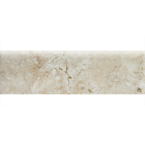 "American Olean Bordeaux 3 x 10 Cr‰̴۪me Wall Bullnose - 10"" Side"