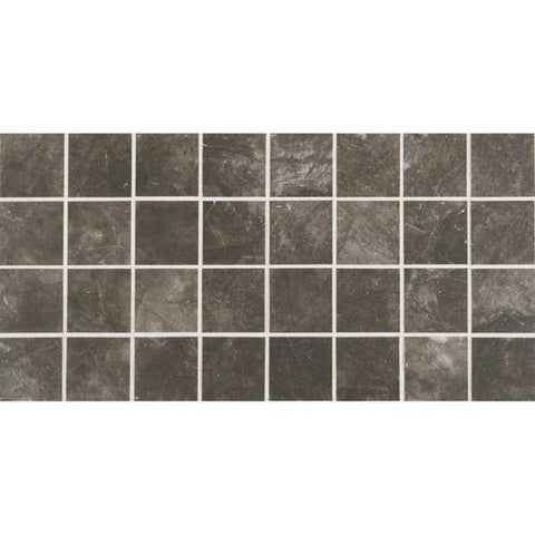 American Olean Bevalo Charcoal 3 X 3 Dot-Mounted Mosaic