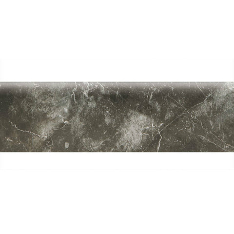 "American Olean Bevalo 3 x 10 Charcoal Wall Bullnose - 10"" Side"
