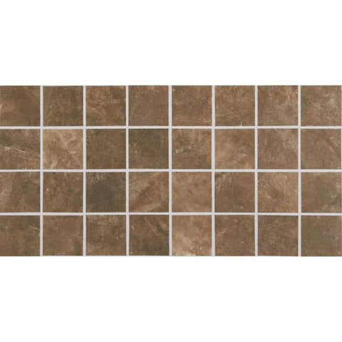 American Olean Bevalo Earth 3 X 3 Dot-Mounted Mosaic