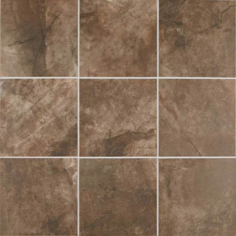 American Olean Bevalo 18 x 18 Earth Floor Tile - American Fast Floors