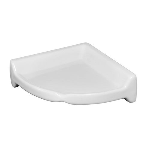 "Bath Fixtures 8-1/2""X8-1/2"" Snow White Large Corner Shelf"