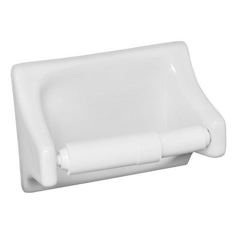 "Bath Fixtures 4""X6"" Snow White Toilet Tissue Holder"