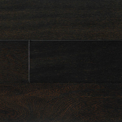 "IndusParquet Brazilian Angelim Ebony High Sheen 3/4"" x 5 1/2"" Handscraped Solid Hardwood - American Fast Floors"