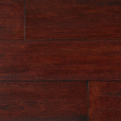 "IndusParquet Brazilian Cherry Rouge 3/4"" x 5 1/2"" Handscraped Solid Hardwood - American Fast Floors"