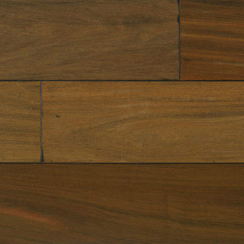 "IndusParquet Brazilian Walnut 3/4"" x 5 1/2"" Handscraped Solid Hardwood - American Fast Floors"
