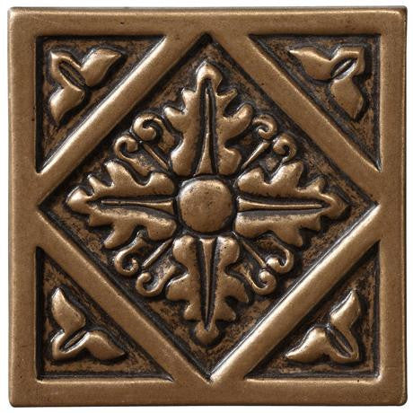 "Marazzi Romance Collection 2""x2"" Bronze Diamond Insert"