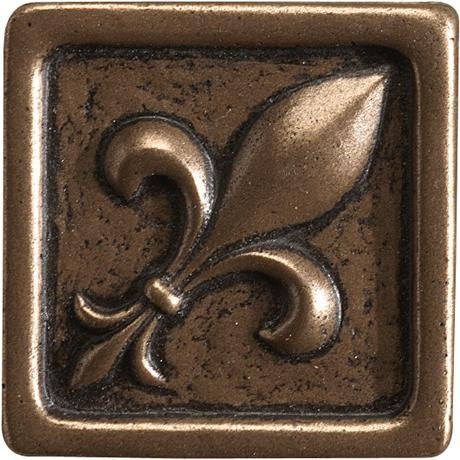 "Marazzi Romance Collection 2""x2"" Bronze Fleur De Lis Insert"
