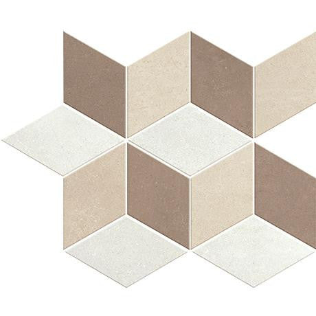 "Marazzi Oxford 12""x12"" Brown Diamond Mosaic"