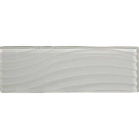 American Olean Color Appeal Abstracts 4 x 12 Pearl Wavy Glass Tile