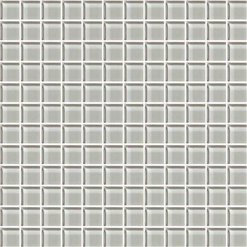 American Olean Color Appeal Silver Cloud 1 X 1 Mesh-Mounted Mosaic