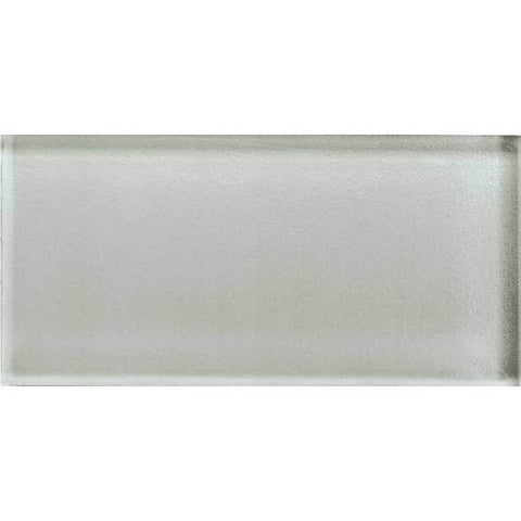 American Olean Color Appeal 3 x 6 Silver Cloud Glass Field Tile