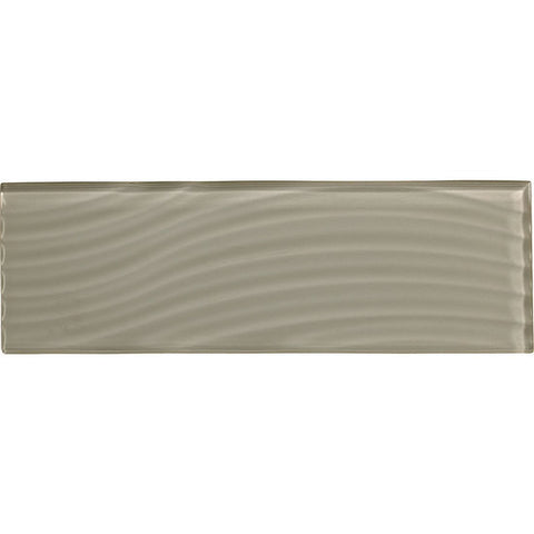 American Olean Color Appeal Abstracts 4 x 12 Silver Cloud Wavy Glass Tile