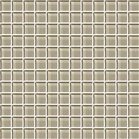 American Olean Color Appeal Oxford Tan 1 X 1 Mesh-Mounted Mosaic